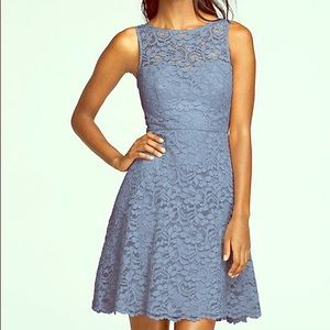 All lace fit and flare dress